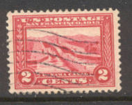 398 2c Pan-Pacific Canal, carmine, Perf 12, AVG Used 398uavg