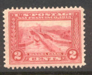 398 2c Pan-Pacific Canal, carmine, Perf 12, F-VF Mint NH 398nh