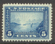 399 5c Pan-Pacific Golden Gate, blue, Perf 12, F-VF Mint NH 399nh