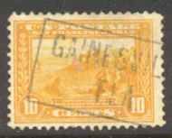 400 10c Pan-Pacific S.F. Bay, orange yellow, Perf 12, F-VF Used 400used