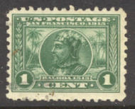 401 1c Pan-Pacific Balboa, green, Perf 10, F-VF Used 401used