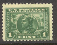 401 1c Pan-Pacific Balboa, green, Perf 10, Mint NH Minor Defects 401nhmd