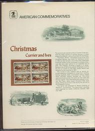 1551 10c Christmas-Road Winter USPS Cat. 41 Commemorative Pan cp041