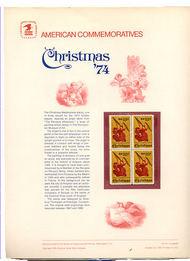 1550 10c Christmas-Angel USPS Cat. 42 Commemorative Panel cp042