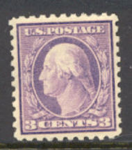 426 3c Washington, deep violet, Perf 10, SL Wmk, AVG Mint NH 426avgnh