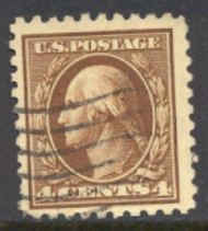 427 4c Washington, brown, Perf 10, SL Wmk, AVG Used 427uavg