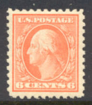429 6c Washington, red orange, Perf 10, SL Wmk, AVG Unused 429ogavg