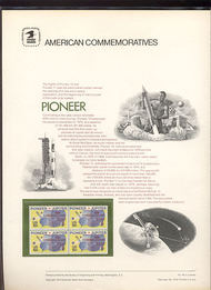 1556 10c Pioneer USPS Cat. 44 Commemorative Panel cp044
