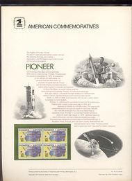 1556 10c Pioneer USPS Cat. 44 Commemorative Panel cp044