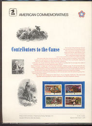 1559-62 6c/11c Contributors to Cause USPS Cat. 46  Commemorative Panel cp046