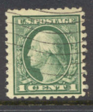 462 1c Washington, green, Perf 10, No Wmk, AVG Used 462usedavg