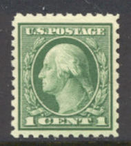 462 1c Washington, green, Perf 10, No Wmk, AVG Mint NH 462nhavg