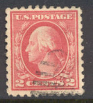 463 2c Washington, carmine, Perf 10, No Wmk, AVG Used 463usedavg