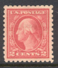 463 2c Washington, carmine, Perf 10, No Wmk,  Mint NH Minor Defects 463nhmd