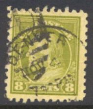 470 8c Franklin, olive green, Perf 10, No Wmk, Used AVG 470uavg