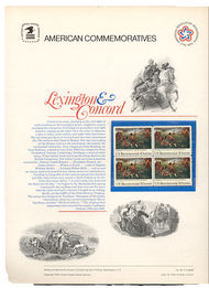 1563 10c Lexington Concord USPS Cat. 48  Commemorative Panel cp048