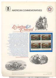 1563 10c Lexington Concord USPS Cat. 48  Commemorative Panel cp048