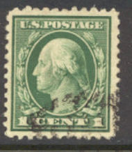 498 1c Washington, green, F-VF Used 498used
