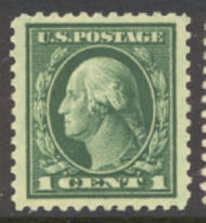 498 1c Washington, green, Unused AVG 498ogavg