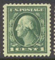 498 1c Washington, green, Unused AVG 498ogavg