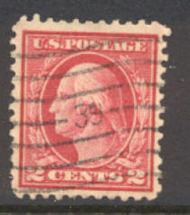 499 2c Washington, rose, Type I, Used AVF 499usedavg