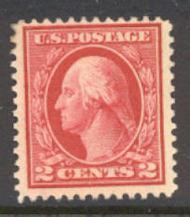 499 2c Washington, rose, Type I, AVG Unused OG 499ogavg