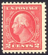 500 2c Washington, rose, Type Ia,Mint NH F-VF 500nh