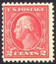500 2c Washington, rose, Type Ia,Mint NH AVG 500nhavg