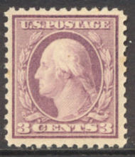 501 3c Washington,lt violet,Ty. I, Unused OG AVG 501ogavg