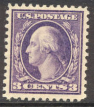 502 3c Wash., lt violet,Type II, F-VF Mint NH 502nh