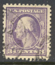 502 3c Wash., lt violet,Type II, Used AVG 502usedavg