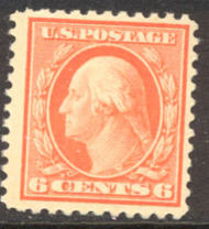 506 6c Washington, red orange, Unused OG AVG 506ogavg