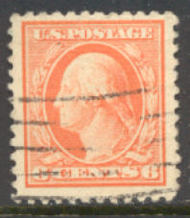 506 6c Washington, red orange, Used F-VF 506used