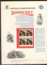 1564 10c Bunker Hill USPS Cat. 51 Commemorative Panel cp051