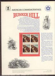 1564 10c Bunker Hill USPS Cat. 51 Commemorative Panel cp051