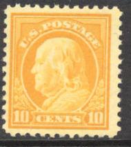 510 10c Franklin, orange yellow, AVG Mint NH 510nhav