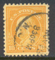 510 10c Franklin, orange yellow, Used AVG 510usedavg