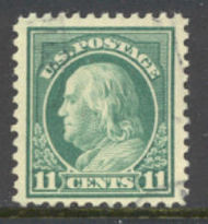 511 11c Franklin, light green, Used AVG 511uavg
