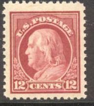 512a 12c Franklin, brown carmine, Mint NH AVG 512anhavg