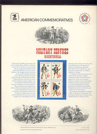 1565-68 10c Military Services USPS Cat. 52 Commemorative Panel cp052