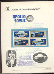1569-70 10c Apollo Soyuz USPS Cat. 53 Commemorative Panel cp053