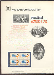 1571 10c Women's Year USPS Cat. 55 Commemorative Panel cp055