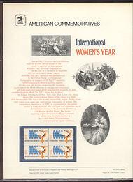 1571 10c Women's Year USPS Cat. 55 Commemorative Panel cp055