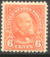 558 6c James Garfield Avg Mint Hinged 558ogavg