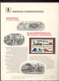 1572-75 10c Postal Bicentennial USPS Cat. 56 Commemorative Pan cp056
