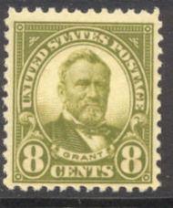 560 8c Ulysses S. Grant F-VF Mint Hinged 560og