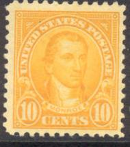 562 10c James Monroe AVG Mint Hinged 562ogavg