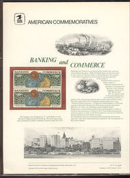 1577-78 10c Banking & Commerce USPS Cat. 57 Commemorative Pane cp057