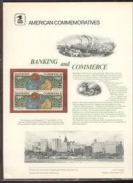 1577-78 10c Banking & Commerce USPS Cat. 57 Commemorative Pane cp057