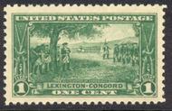 617 1c Lexington-Concord F-VF Mint NH 617nh